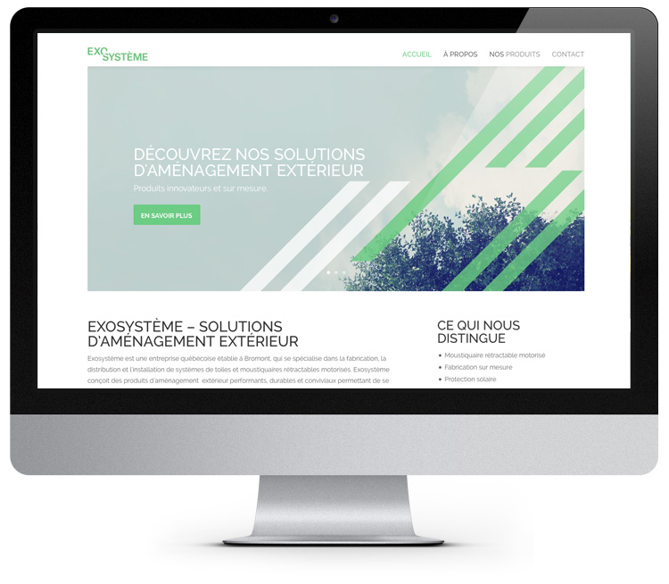 Site web ExoSystème