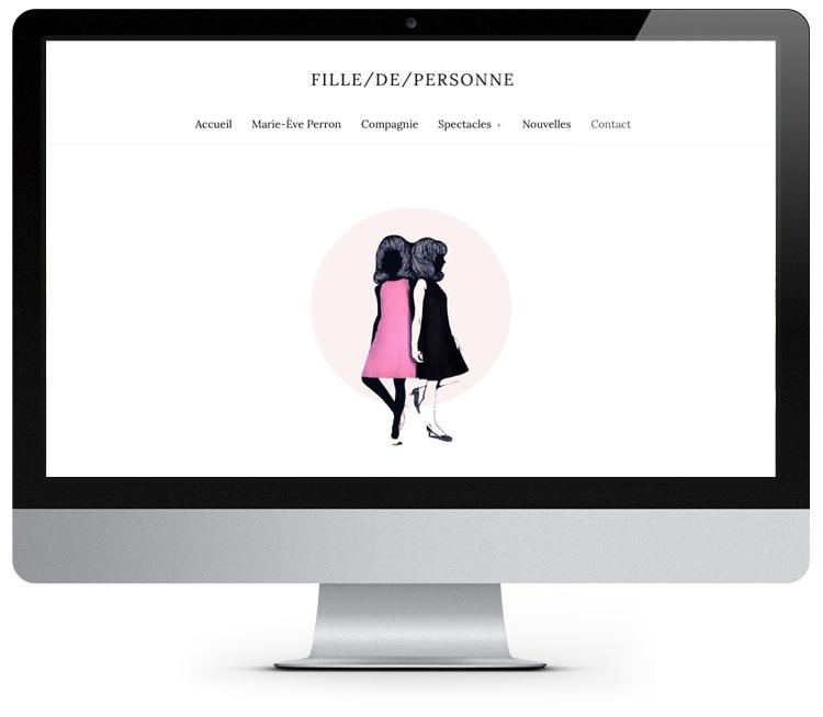 Site web Fille/de/personne